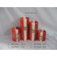 Buy cheap Orange Blossom Aromatherapy Pillar Candle Home Decoration Crafts from wholesalers