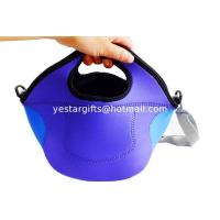 Wholesale Purple Insulated Neoprene Lunch Tote With Firm Handle And Cross-Shoulder Stap For Picnic from china suppliers