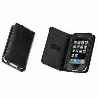 Wholesale Convenient-to-carry Wallet Leather Mobile Phone Cases with Flip Belt and Drawstring Co from china suppliers