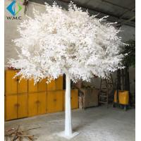 Wholesale Custom Large Artificial Ficus Plant White Leaf For Indoor Hotel Decoration from china suppliers
