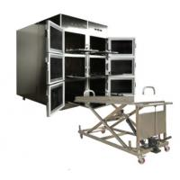China ROUNDFIN morgue six body mortuary refrigerator/6 corpse morgue freezer for sale on sale
