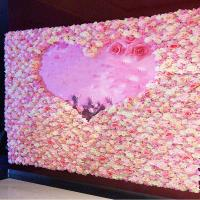 Wholesale 40*60cm Silk Fabric Coloful Artificial Rose Flower Wall Vertical Garden Handmade Real Touch from china suppliers