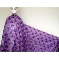 Buy cheap Stretch Purple Double Organza Material With Sequins Guipure from wholesalers