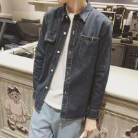 Spring / Autumn Mens Jean Jackets With Two Pockets Button Closure Blue Brown Manufactures