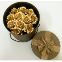 Buy cheap Wedding love Valentine day decoration gift 24k Gold Foil Rose bouquet from wholesalers