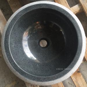 Wholesale Natural G654 Dark Grey Round Granite Vessel Sinks from china suppliers
