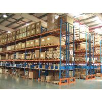 Buy cheap Blue / Orange Steel Beam Heavy Duty Pallet Racking System Double Entry Wood Pallet from wholesalers