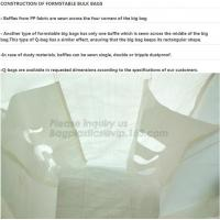 Buy cheap Flat bottom open mouth virgin PP woven bags 1000kgs 1 ton jumbo bags big fibc bulk bag for packing,breathable pp woven b from wholesalers