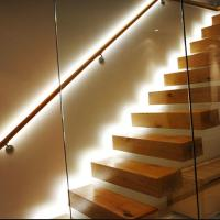 Wholesale Australian style high quality indoor floating solid wood tread open stairs/staircases from china suppliers