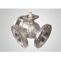 Buy cheap Cast Steel 3-way Ball Valve Stainless Steel L-port T-port Anti-static from wholesalers