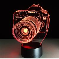 Buy cheap Canon Camera 7 Colors Change 3D LED Night Light with Remote Control Ideal For Birthday Gifts And Party Decoration from wholesalers