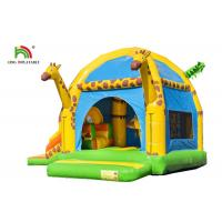 Buy cheap 4 In 1 Giraffe Inflatable Jumping Castle With Slide And Obstacle For Outdoor from wholesalers