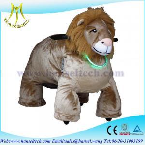 Hansel motorized plush riding animals china wholesale animal rides happy rides on animal Manufactures