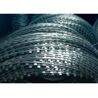 Buy cheap Hot Dipped Galvanized Razor Barbed Wire , Razor Wire Concertina CBT-65 Type from wholesalers