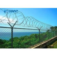 Buy cheap Decorative  Galvanized Chain Link Fence Heavy Duty High Strength For Security from wholesalers