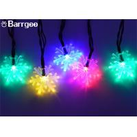 Buy cheap 6M Snowflake Solar Powered Outdoor Xmas Tree Lights , Multi Colored Led Christmas Lights from wholesalers