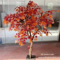 Wholesale Crimson Red Artificial Maple Tree Home Garden Plants Office Decoration from china suppliers
