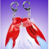 Buy cheap Promo crab claw LED keychain with sound with one led light from wholesalers