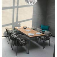 Buy cheap Hot sale Poly belt chair Outdoor Garden furniture sets Coffe mesh fabric chair poly wood Table from wholesalers