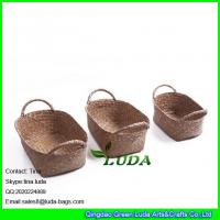 Buy cheap LUDA household decorative storage boxes wholesale sea grass straw basket from wholesalers