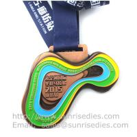 Buy cheap Metal sport medal factory China, enamel metal medallion manufacturer directly from wholesalers