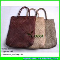 Buy cheap LUDA colored seagrass straw beach bag natural beach towel bag from wholesalers