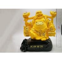 Buy cheap Poly Resin Custom Trophy Cup , Gold Plated Laughing Buddha Religious Crafts from wholesalers