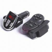 Buy cheap FM Transmitter with Steering Remote Control, Supports SD/MMC Card, WMA, and MP3 Files from wholesalers