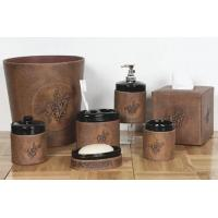 Buy cheap Leather/Ceramic Bathroom Accessory Set from wholesalers