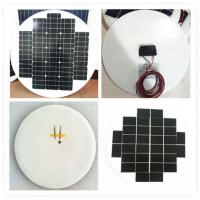China High Efficiency Round Solar Panels , Rollable Solar Panel Bear Wind Pressure on sale