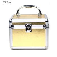 Wholesale Gold Aluminum Cosmetic Organizer Case with Mirror Professional Cosmetic Case from china suppliers