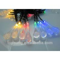 Buy cheap flash led lights 5m 20leds solar water drop chiritsmas lights from wholesalers
