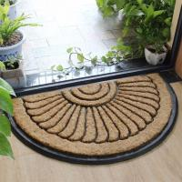 Buy cheap Thickness 25mm Coir Outdoor Mats Semi Circle Rubber Mold Puzzle Style from wholesalers