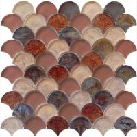 Brown red luxury style water waving glass mosaic Manufactures