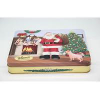 Buy cheap Santa Big Christmas Gift Candy Tin Boxes With Lids Customized FDA ROHS from wholesalers