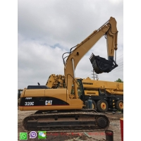 Buy cheap 0.8M3 Bucket Crawler Excavator  Yellow  Color  Digger CAT 320c Excavator ,  Second Hand Construction Machinery from wholesalers