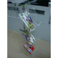Buy cheap 3 Mm 3 Tier Clear Acrylic magazine display rack Floor Stand for  retail shop from wholesalers