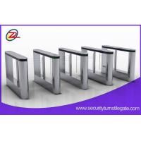 Building 316 stainless access control swing turnstile with fingerprint scanner Manufactures