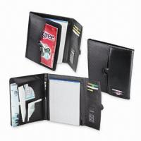 Wholesale Tri-fold Portfolios, Made of Tender Hide Simulated Leather from china suppliers