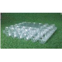 Buy cheap Rectangular Hard Clear Plastic Egg Cartons 30 Cavities Environmental Friendly from wholesalers