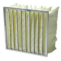 Buy cheap High performance low pressure drop bag air filter media / pocket air filter for AHU, ACU, room air purifiers from wholesalers