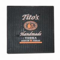 Buy cheap Rubber bar mat, size of 60 x 10 x 1cm, customized designs are accepted from wholesalers