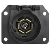 Buy cheap 7 Way Trailer Electrical Socket 7 Blade Trailer Connector With Cover from wholesalers