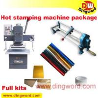 Buy cheap Professional hot foil stamping business start up full kit CT-65,hot foil stamping machine from wholesalers