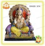 Buy cheap Polyresin Hindu God Statues-sitting Ganesh Murti from wholesalers