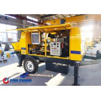 Buy cheap 20m3 Diesel Trailer Mounted Concrete Pump S Valve 1400mm Concrete Cylinder Diameter from wholesalers