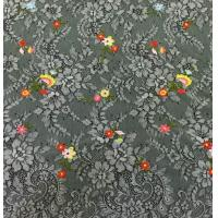 Buy cheap Small Floral Base on Beautiful Floral scalloped edged  Nylon Embroidered Lace Fabric from wholesalers