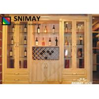 Buy cheap Modern Home LED Wooden Wine Cabinet / Wine Storage Racks in MDF board from wholesalers