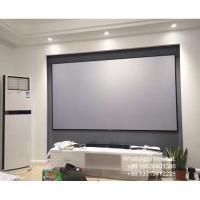 Buy cheap XY Screen 150 inch High Contrast Grey Slim Frame Projection Screen for Ultra Short Throw Projector from wholesalers