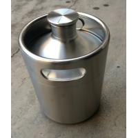 Buy cheap 64 oz(2L)and 128(4L)pressurized mini kegs for craft beer with CO2 and tap product